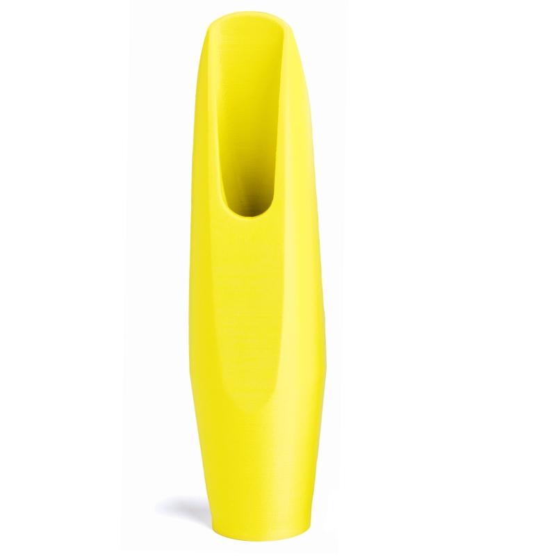 Baritonsaxofoon mondstuk fluoriserend geel