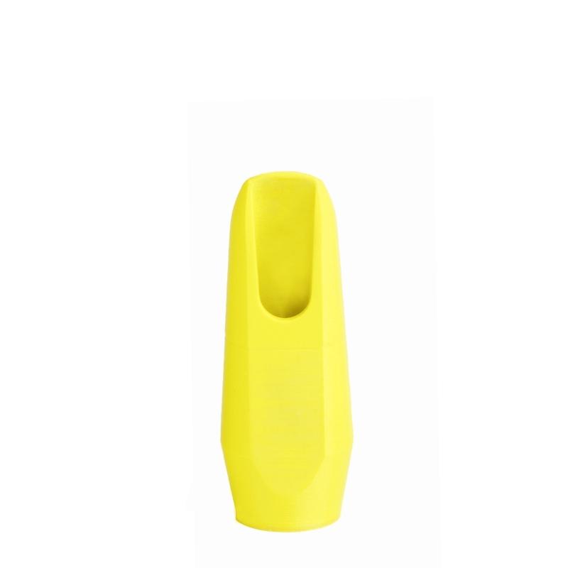 Sopraansaxofoon mondstuk fluoriserend geel van Flow