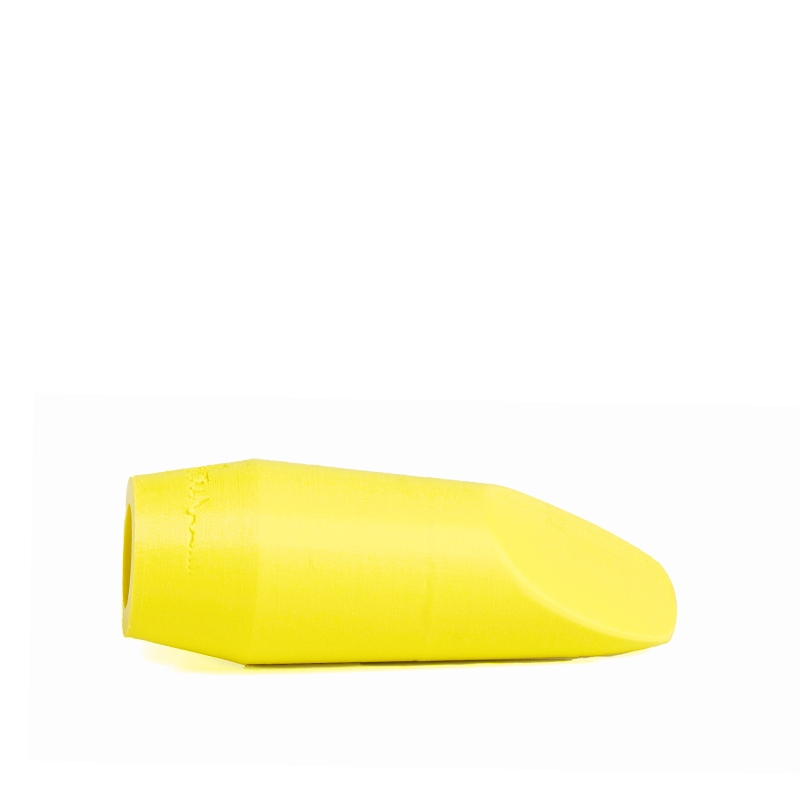 Mondstuk voor sopraansaxofoon in de kleur fluoriserend geel van Flow