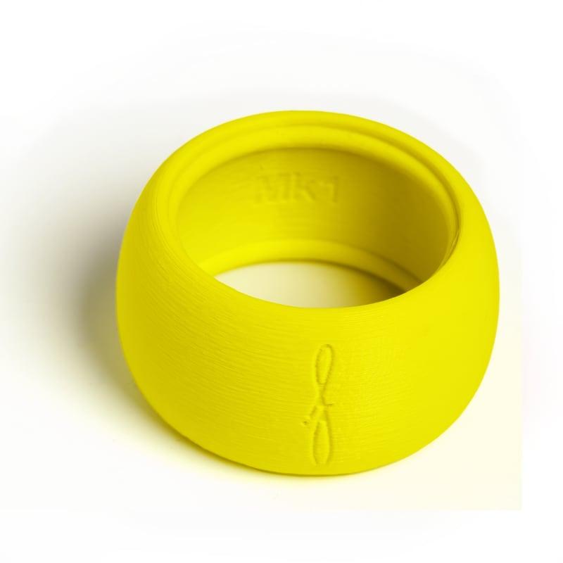 Flow Woodwind rietbinder voor baritonsaxofoon-kleur fluoriserend geel