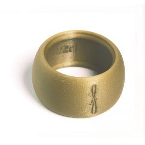 Flow mondstukken rietbinder voor baritonsaxofoon-kleur goudbruin-image