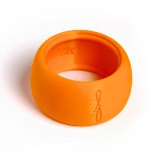 Flow Woodwind rietbinder voor baritonsaxofoon-kleur oranje