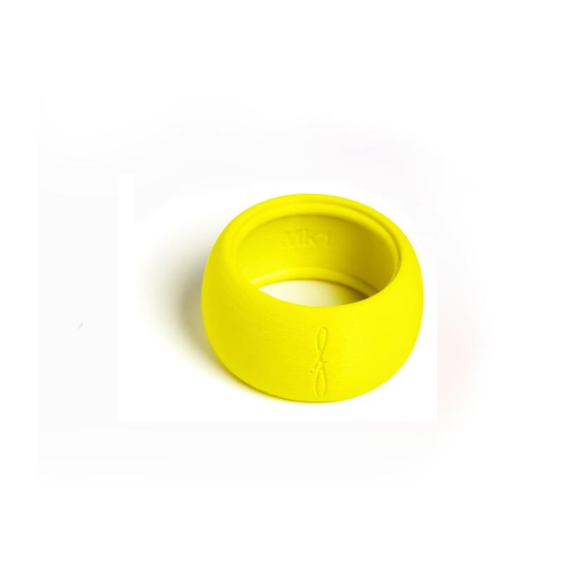 Rietbinder sopraansaxofoon fluoriserend geel